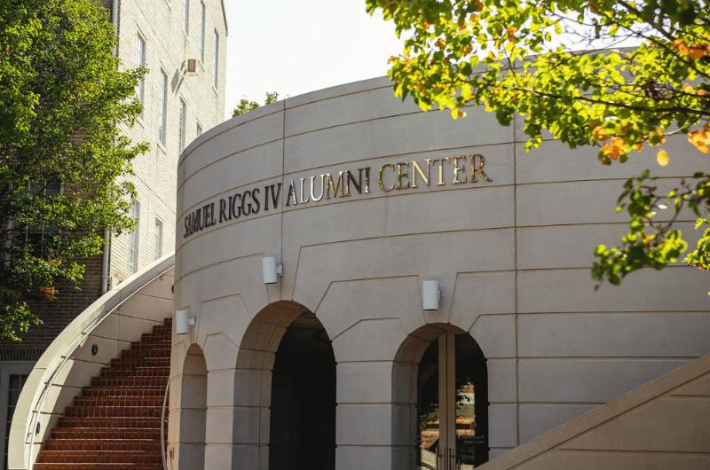 exterior of riggs alumni center